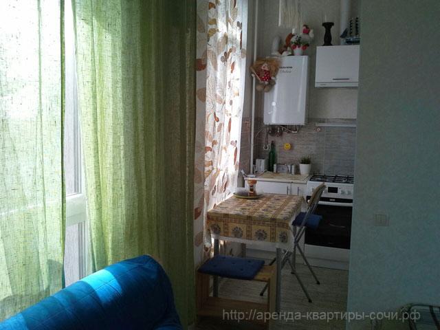 Обеденная зона, квартира 35м2, Сочи-Монако-Клуб, ул. Просвещения, 148