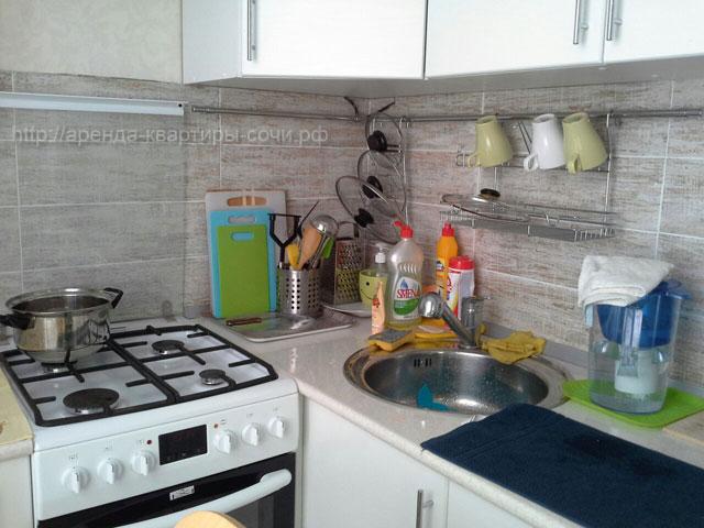 Кухня, квартира 35м2, Сочи-Монако-Клуб, ул. Просвещения, 148