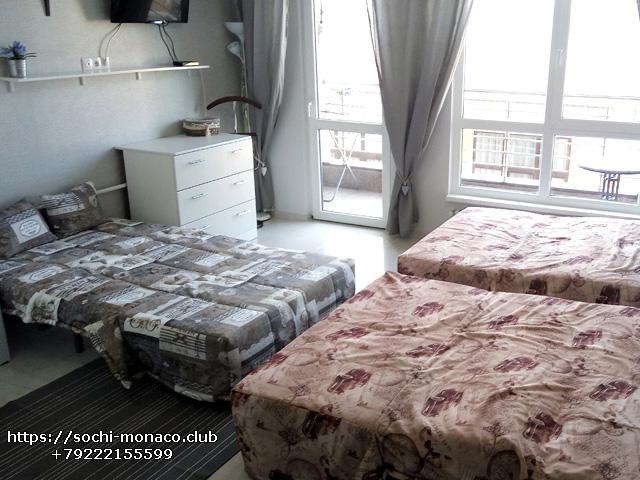 диван-кровать спальные места, квартира 35м2, Аренда квартиры Сочи, Сочи-Монако-Клуб, ул. Просвещения, 148
