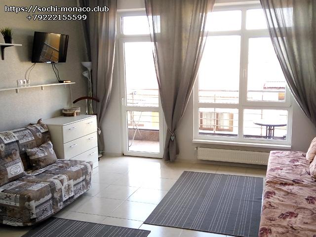 Общий вид, квартира 35м2, Аренда квартиры Сочи, Сочи-Монако-Клуб, ул. Просвещения, 148