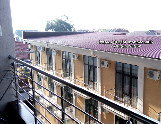 Вид с балкона, квартира 35м2, Аренда квартиры Сочи, Сочи-Монако-Клуб, ул. Просвещения, 148